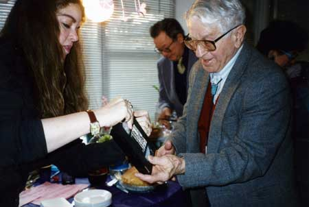 Sophie-Louise Ullman and Sam Wallach, Henry Foner in background
