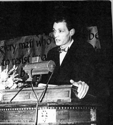 Arthur Miller addresses the Teachers Union December 18, 1948
