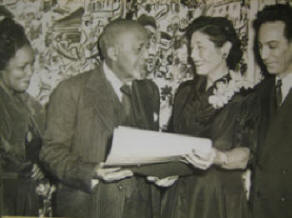 TU members Lucile Spence, Dr. W.E.B. Du Bois, Rose Russell and Abe Lederman